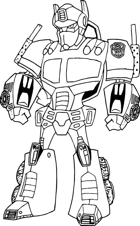 transformers optimus prime robot coloring page coloring