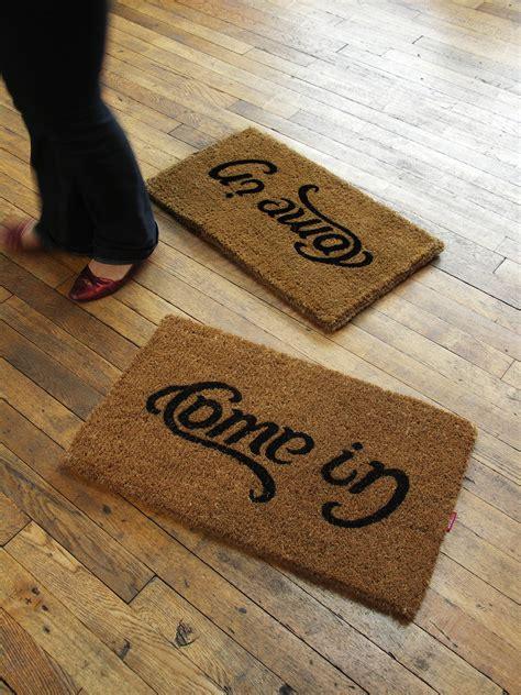 cool doormats uk doormat content gallery come in go away quot ambigram quot