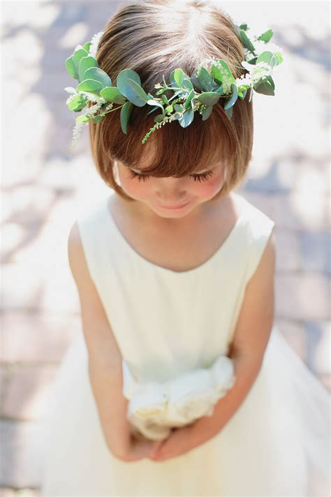 natures point wedding flower girl halo stemfloral