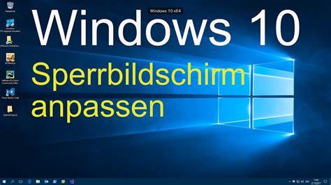 windows  sperrbildschirm anpassen youtube