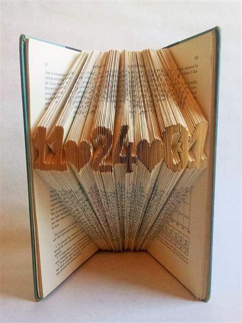 folded book art paper anniversary gift