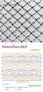 Crochet  Diamond Lace Stitch Diagram