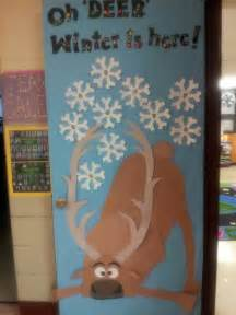 frozen sven winter door decoration bulletin board ideas