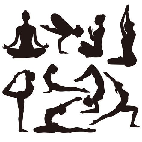 Weekly free svg cut file diy craft inspirations & videos click this link for more. Yoga pose black silhouette vector 02 - Vector People free ...