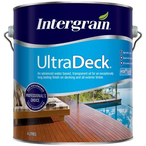 intergrain  ultradeck merbau water based decking oil