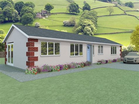 Simple Bungalow Plans  The Vowchurch Houseplansdirect