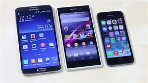 Samsung Galaxy Note 3 vs Sony Xperia Z1 vs Apple iPhone 5s ...