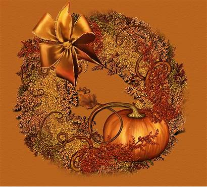 Thanksgiving Wreath Glitter Amber Happy Animated Fall