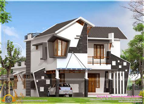 unique house exterior   square feet kerala home