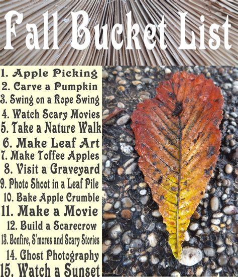 autumn bucket list fun   fall