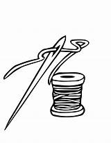 Needle Thread Clipart Clip Threads Coloring Pages Sheet خيط Cliparts ابره Alif Ibra Kha Colouring Arabic Drawing Library Children Cartoon sketch template