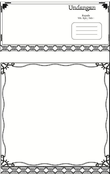bingkai undangan walimatul ursy kosong desain undanganku