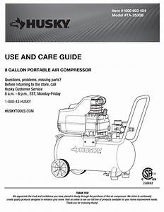 Husky 60 Gallon Air Compressor Wiring Diagram