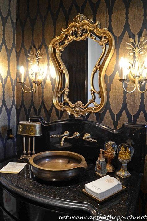 gold bathroom decor tour a beautiful home decorated for