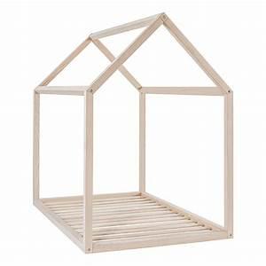 Lit Maison Bois : lit simple bois vipack lit simple en bois massif vernis ~ Premium-room.com Idées de Décoration