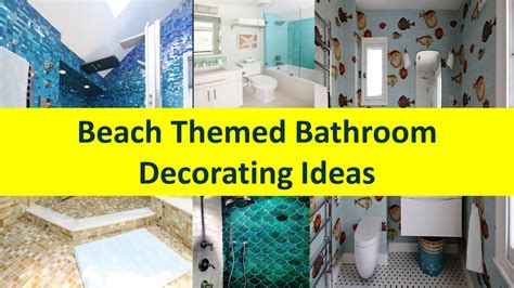 beach themed bathroom decorating ideas youtube