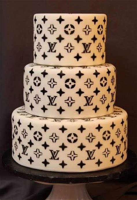 white black louis vuitton wedding cake photosjpg