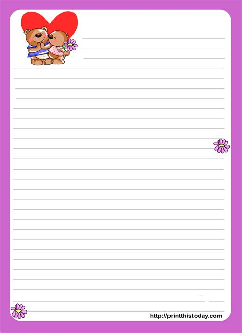 love letter writing paper