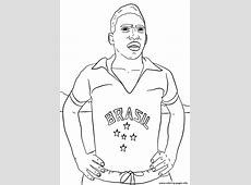 Pele Soccer Coloring Pages Printable