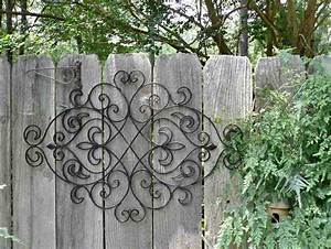 large outdoor wrought iron wall decor decor ideasdecor ideas With kitchen cabinets lowes with outdoor metal flower wall art
