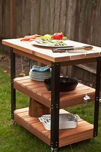 How To Make A DIY Rolling Grill Cart And BBQ Prep Station