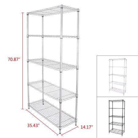Gzyf Tier Shelving Units Adjustable Metal Wire Storage