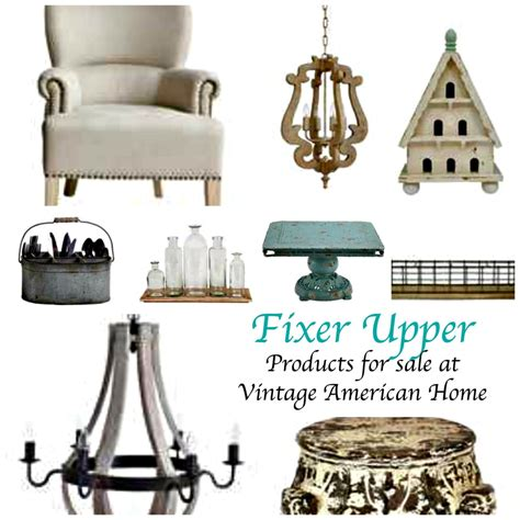 vintage home interior products fixer tv style products now available on line