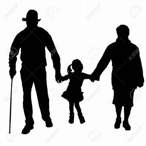 Silhouette of old people clipart collection 4
