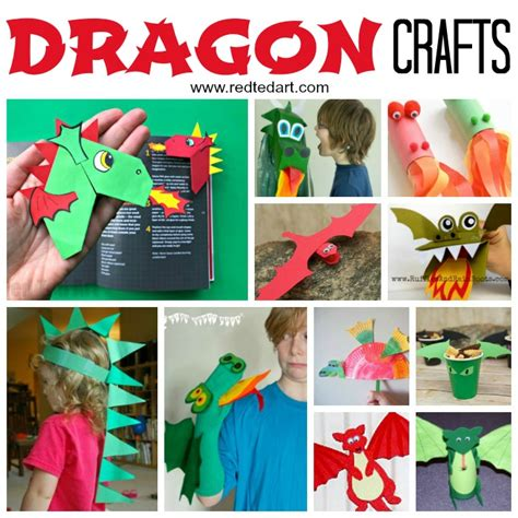 crafts for st david s day ted 687   Dragon Crafts Kids