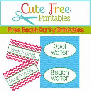 18 best images about pool party food labels on pinterest for Food label template for party