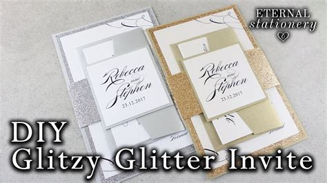 How To Make Elegant Glitter Wedding Invitations With Belly