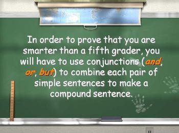 Are You Smarter Than A 5th Grader Powerpoint Template by Conjunctions And Compound Sentences Are You Smarter Than