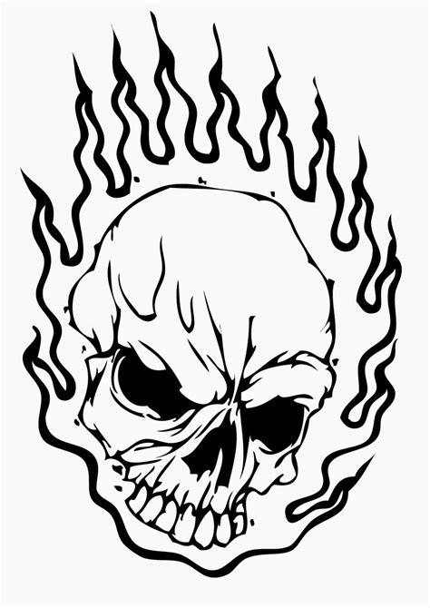 Skeleton Head Coloring Pages at GetColorings.com | Free