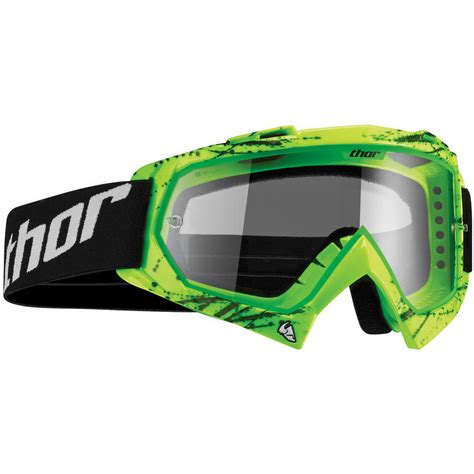 youth motocross goggles thor enemy 2016 youth splatter green motocross goggles