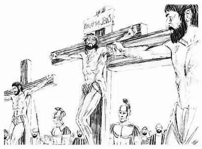 Jesus Pencil Cross Drawing Drawings Coloring God