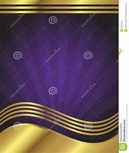 Elegant Purple And Gold Background Stock Vector ...