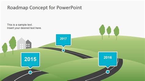 roadmap concept  powerpoint fppt