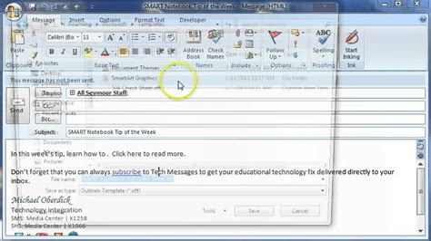 find forms in outlook 2010 creating an e mail message template in outlook youtube