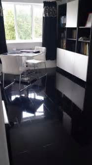 black high gloss laminate flooring price per sqm designer finish ebay