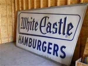 Vintage White castle sign 12x6 | Collectors Weekly