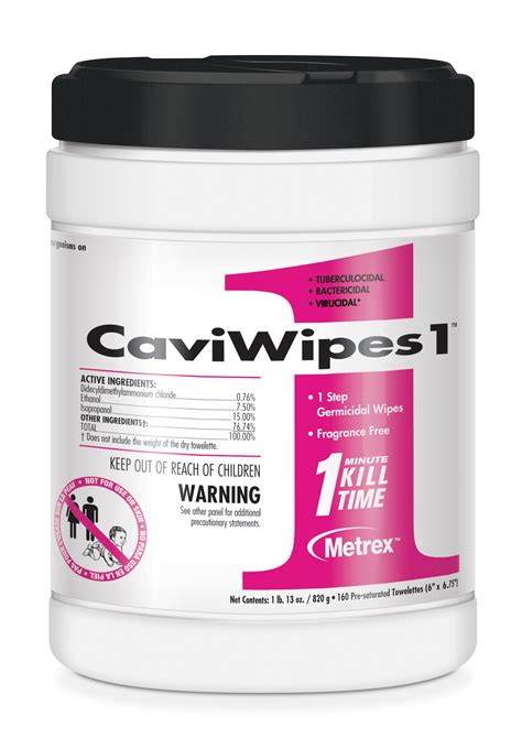 CaviWipes1, the 1-Minute Low-Alcohol Surface Disinfectant