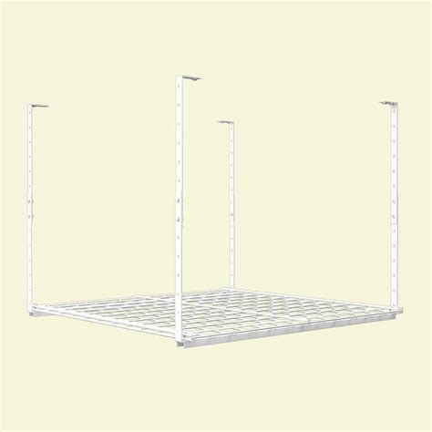 hyloft 36 in w x 36 in d adjustable height garage ceiling storage unit 00720 the home depot