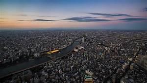 Full HD Wallpaper tokyo evening aerial view megapolis ...