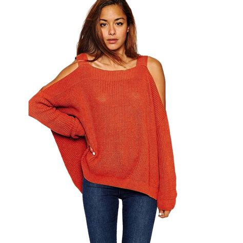 best sweaters shoulder tops chunky knitted pullover