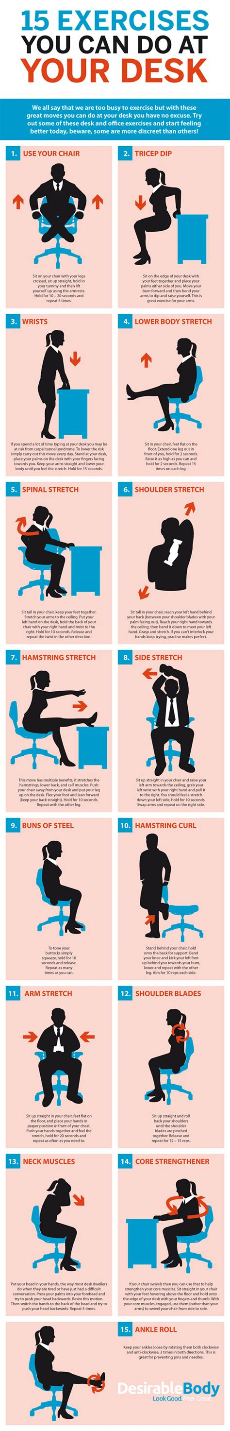 exercises for sitting at desk 15 exercises you can do at your desk build healthy body