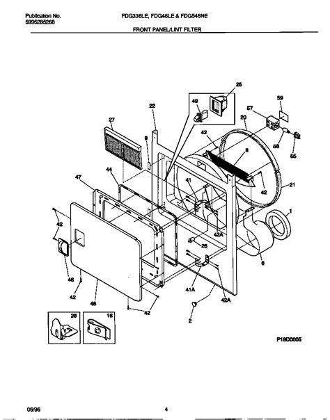frigidaire gas dryer 5995285268 front panel lint filter parts fdg546les0