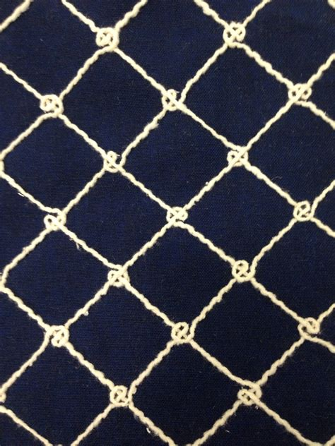 Nautical Upholstery by Navy Nautical Rope Upholstery Fabric By The Yard Coastal