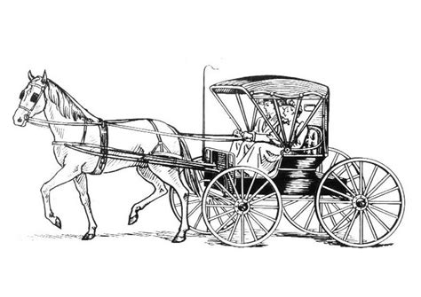 Malvorlage Pferd Mit Kutsche