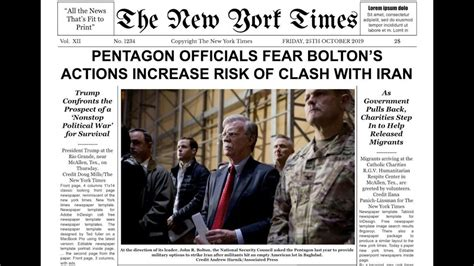 New York Times Newspaper Template Google Docs within ...