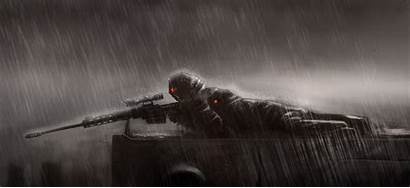 Sniper Wallpapers Rifle Rain Position Cool Rifles